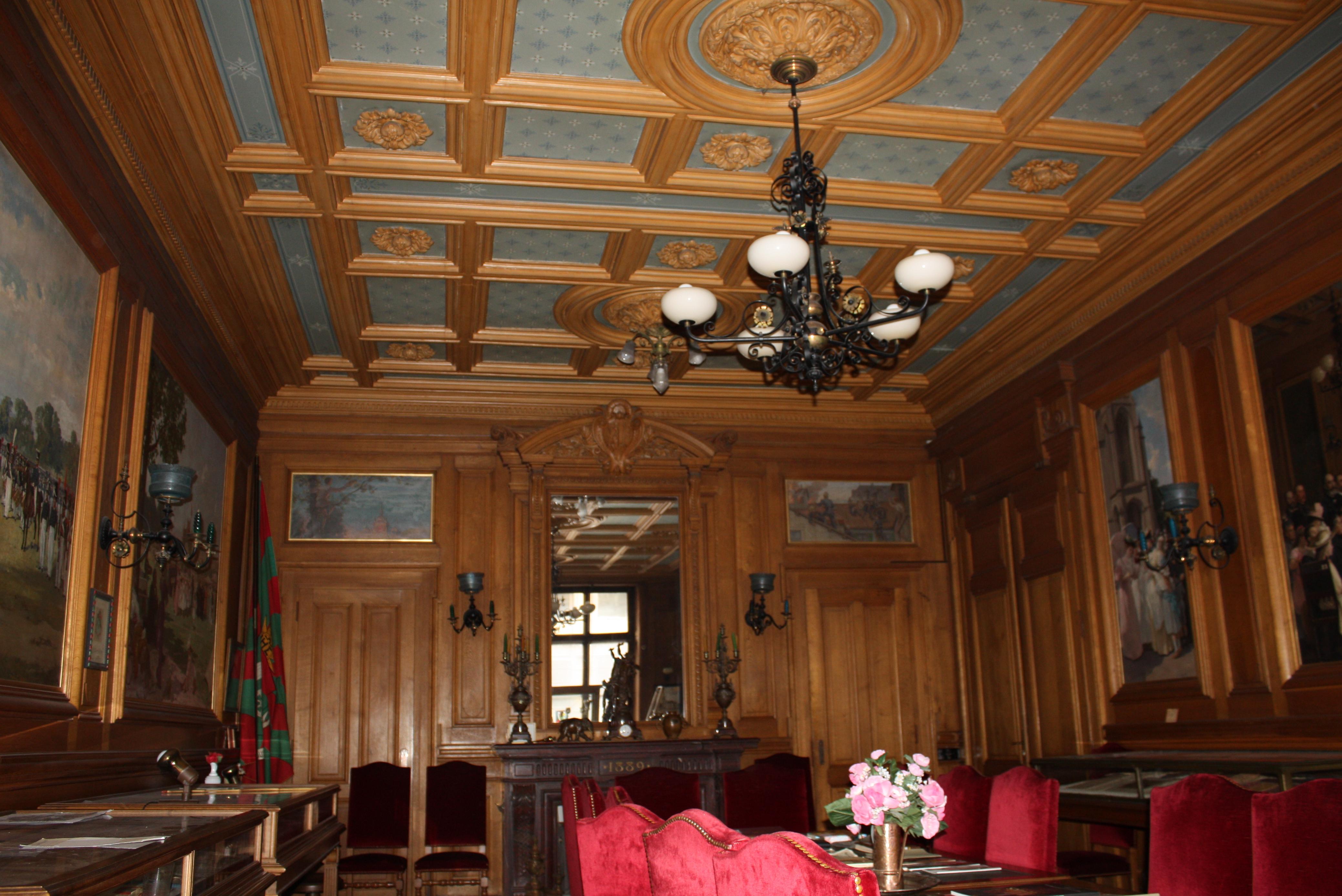 Plafond salle des mariages, Mairie de Plainpalais.